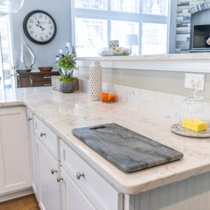 Arctic Ivory Quartz kitchen countertop