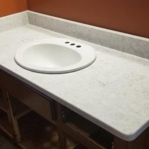 Arctic Ivory Quartz bathroom vanity top