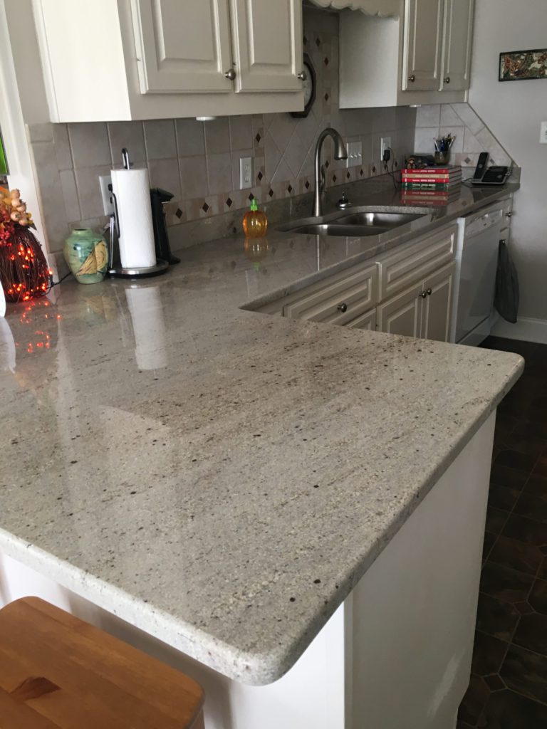 Astoria granite kitchen counter L-shape