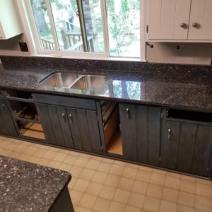 Blue Pearl Granite kitchen countertop install