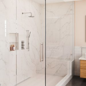 Colton Quartz bathroom shower surround