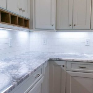 Mont Blanc Marble kitchen countertop install