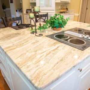 Fantasy Brown Marble kitchen island