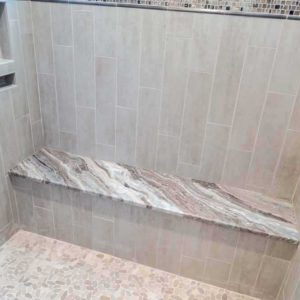 Fantasy Brown Marble shower bench seat