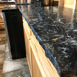 Gran Paradiso Quartz kitchen countertop rough edged install