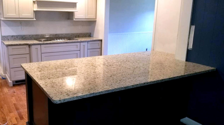 Moon Light granite on spacious kitchen island