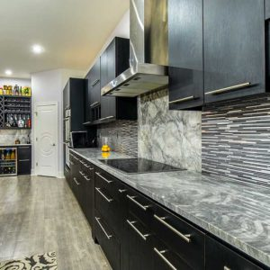 Super White Marble kitchen counter