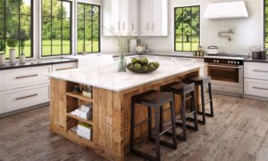 Ironsbridge quartz on spacious kitchen island